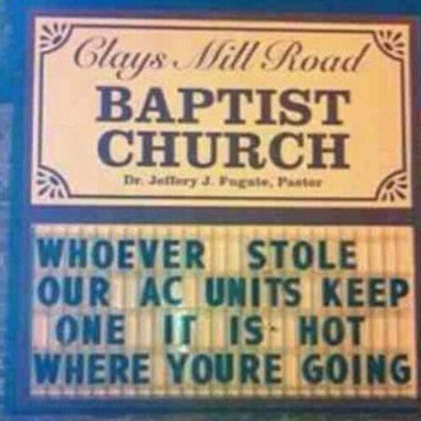 Church people got jokes